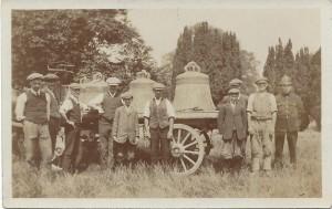Titchmarsh church bells on a cart 1913
